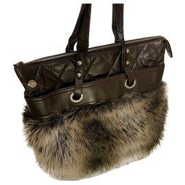 Chanel-Large shopper tote bag 38 cm-Brown,Dark brown