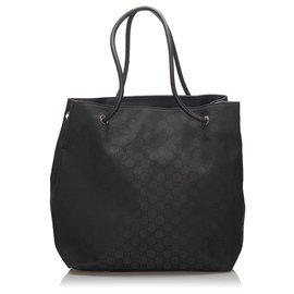 Gucci-Sac cabas en toile Gifford noir GG de Gucci-Noir