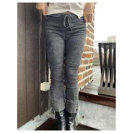 Isabel Marant-Un pantalon, leggings-Gris anthracite