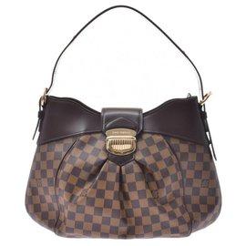 Louis Vuitton-Louis Vuitton Damier Sistina MM-Brown
