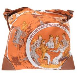 Hermès-Hermès Silk City-Orange