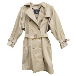 Burberry-cotton / polyester trench coat t 36-Beige