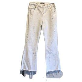J Brand-White flare jeans-White