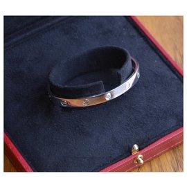 Cartier-Bracelet Cartier Love en or blanc et diamant-Argenté