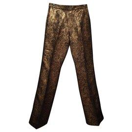 Sandro-Un pantalon, leggings-Doré