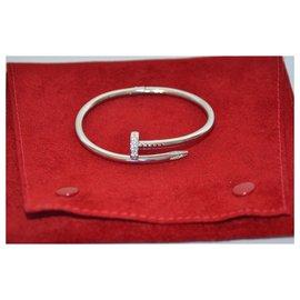 Cartier-Bracelet Cartier Juste un Clou en or blanc et diamants-Argenté