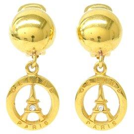 Céline-Clips d'oreilles Céline Tour Eiffel-Doré