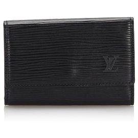 Louis Vuitton-Louis Vuitton Black Leather Key Holder-Black