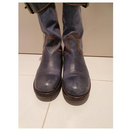 Free Lance-boots-Bleu