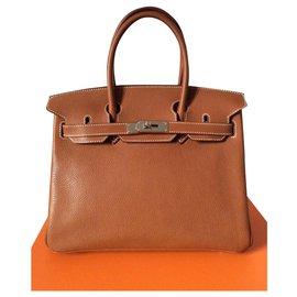 Hermès-HERMES BIRKIN 30 Barenia Faubourg-Light brown