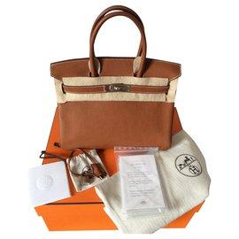 Hermès-Hermes Birkin 30 Barenia Faubourg-Marron clair