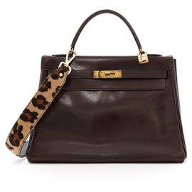 Hermès-Kelly 32 Schokolade-Braun