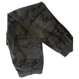 Twin Set-Un pantalon, leggings-Vert foncé