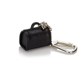 Louis Vuitton-Louis Vuitton Black Leather Key Chain-Black