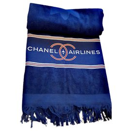 Chanel-new Chanel towel-Navy blue