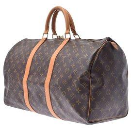 Louis Vuitton-Louis Vuitton Monogram Keepall 50-Brown