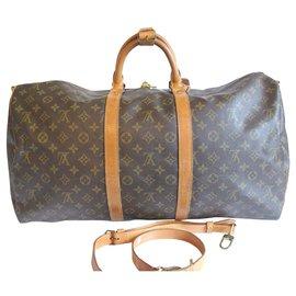 Louis Vuitton-keepall 55 Bandoulière-Brown