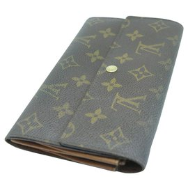 Louis Vuitton-Wallets-Brown