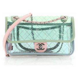Chanel-Chanel saco de respingo de PVC-Turquesa