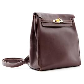 Hermès-KELLYADO MINI 20 BROWN-Marron