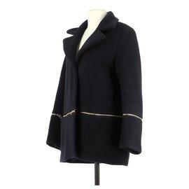 Sandro-Coat-Navy blue