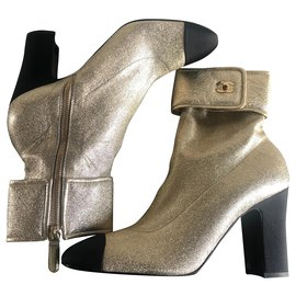 Chanel-Boots-Golden