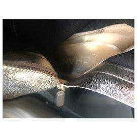 Chanel-boots-Doré