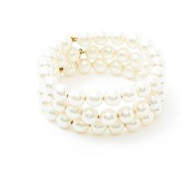 Chanel-3 PEARLS BRACELETS-White