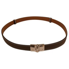 Hermès-Hermes Belt-Taupe