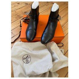 Hermès-HERMES BOOTS NEO MODEL-Black