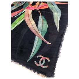 Chanel-Pure cashmere CHANE stole-Multiple colors