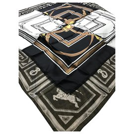 Burberry-Silk scarves-Black