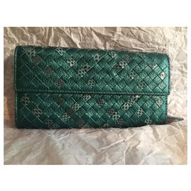 Bottega Veneta-Wallets-Green,Dark green
