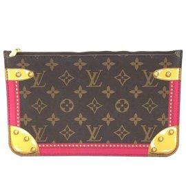 Louis Vuitton-Louis Vuitton Neverfull Pochette Summer Trunks Monogram Canvas-Multiple colors