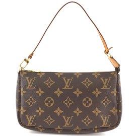 Louis Vuitton-Louis Vuitton Accessory Pochette Monogram Canvas-Brown