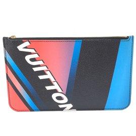 Louis Vuitton-Louis Vuitton Neverfull Pochette Race Multicolor Patent Leather-Multiple colors