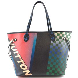 Louis Vuitton-Monograma Neverfull da milímetro da raça de Louis Vuitton-Multicor