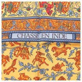Hermès-Hermès CHASSE EN INDE-Orange