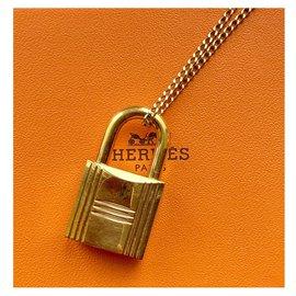 Hermès-Pendentif Cadenas Hermès H 160-Doré