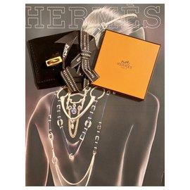 Hermès-Hermès H Padlock Pendant 160-Golden