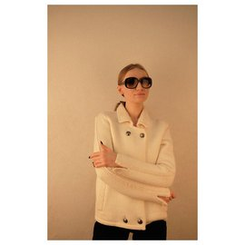 Chanel-Chanel White wool jacket-Other