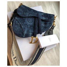 Dior-Dior Saddle Bag KaleiDiorscopic-Blue,Golden