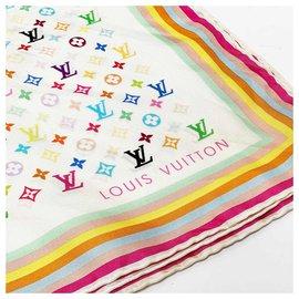 Louis Vuitton-foulard en soie multicolore monogramme-Multicolore