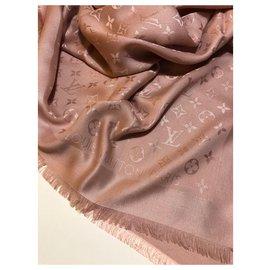 Louis Vuitton-Châle monogramme couleur naturelle Louis Vuitton-Autre