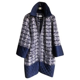 Chanel-oversized boucle tweed coat-Multiple colors