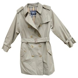 Burberry-vintage Burberry women's trench coat 38-Khaki