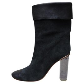 Chloé-Ankle Boots-Black,Dark grey
