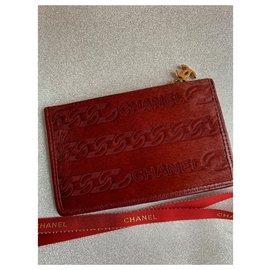 Chanel-Bourses, portefeuilles, cas-Rouge