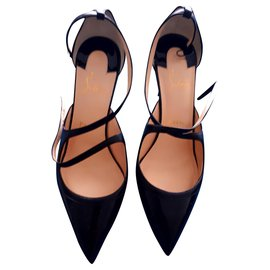 Christian Louboutin-Black Crissos 85 Nappa Shiny pumps-Noir