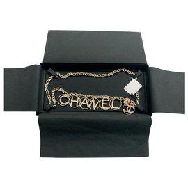 Chanel-CEINTURE CHANEL METAL DORE NEUF REGLABLE-Doré